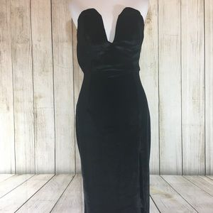 Tobi velvet dress black medium